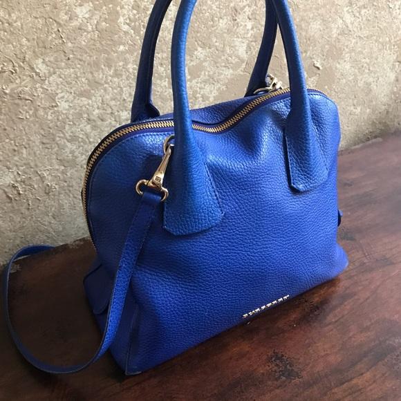 c3edba68e6ab Burberry Handbags - Burberry Royal Blue Grain Leather Bowling Bag