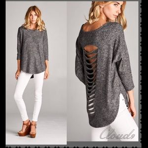 Cloud 9 Tops - Just in ♠️Simply Gorgeous In Charcoal Top