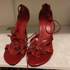 Wild Pair Shoes - NWOT wild Pair red leather heels