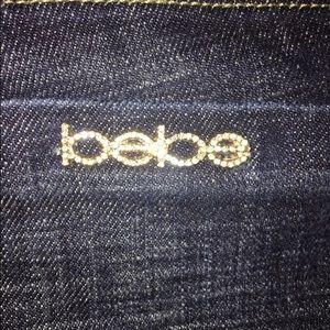 Bebe Carmen rivet dark jean size 26