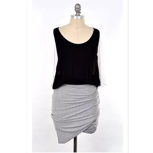 Mason Dresses & Skirts - Mason chiffon bodice draped jersey blouson dress