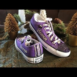Converse Shoes - Bedazzled Minnesota Vikings converse shoes. 0a7f2542c4