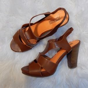 Kenneth Cole Reaction Cognac Heels