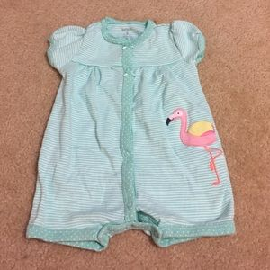 Carter's Other - Sale! Today only! Flamingo baby girl romper