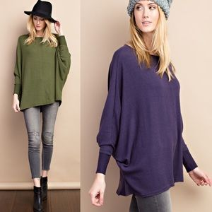 ⛄️WINTER SALE⛄️ Eggplant Dolman Tunic Sweater