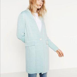Zara linen cotton coat-- size large