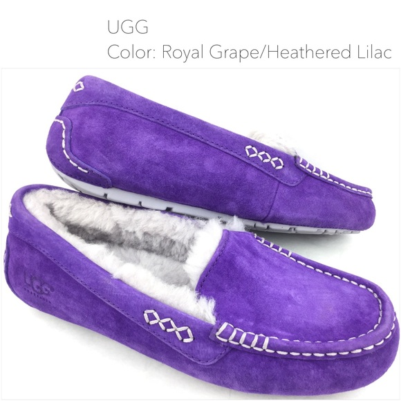 cad14ad3a29 UGG Ansley Royal Grape Moccasins Slippers | 7