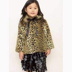 Halabaloo Other - Halabaloo toddler girl leopard faux fur coat 2T