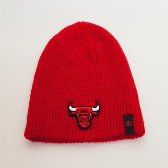 Adidas Accessories - Adidas Chicago Bulls Cuffless Knit Cap Beanie 25340f3a6ea4