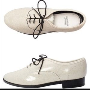 American Apparel Shoes - American Apparel Off White Sparkle Dancing Shoes
