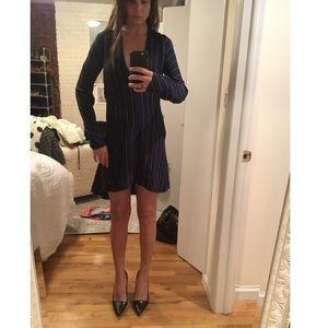 Bec & Bridge Dresses & Skirts - Bec&Bridge navy blue dress with white pin stripes