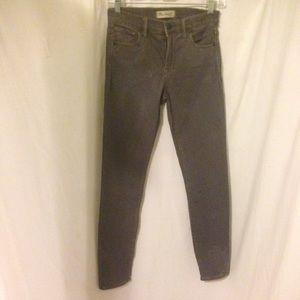 Madewell 24 High Riser skinny gray jeans