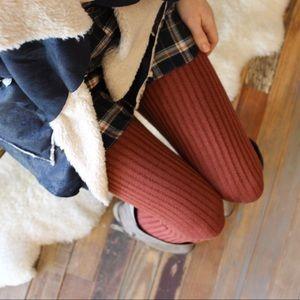 Pants - Rust ribbed knit sweater leggings