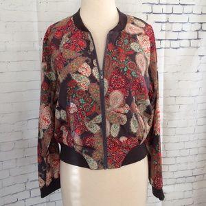 Ladakh Jackets & Blazers - Ladakh Zip Front Paisley Jacket Size 4