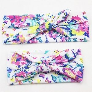 Other - SALE NWOT Mama and Me Bright Floral Headband Set