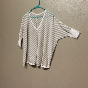 Tops - Light Weight Sweater Tan and Cream color