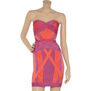 Herve Leger Dresses & Skirts - Herve Leger Geometric Mini Bodycon Dress Size S