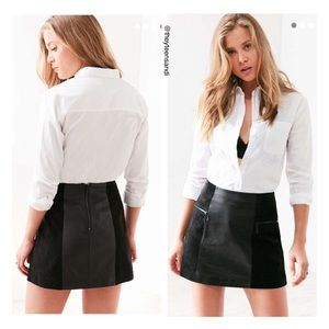 Urban Outfitters Suede Panel Leather Mini Skirt