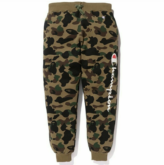 3bf152dd0a9 A Bathing Ape Other - BAPE X CHAMPION SWEATPANTS- RARE FIND