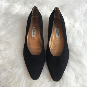 Bally Shoes - Vintage Bally leather Suede pumps