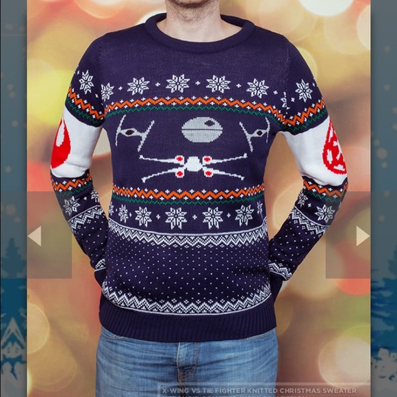 star wars x wing vs tie fighter christmas sweater