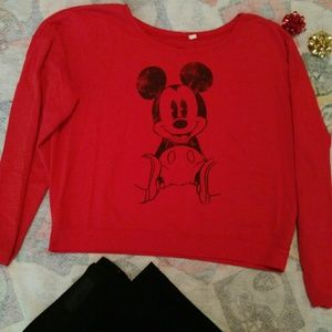 Disney Sweaters - Over sized woman' medium Disney holiday red sweate