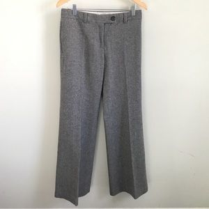 J. Crew wide legged herringbone trousers