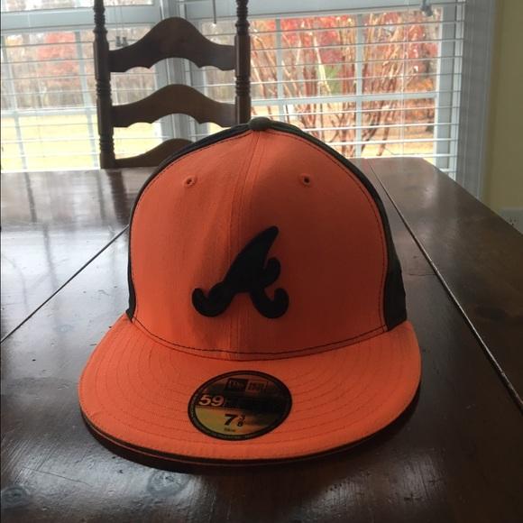 b10ae55d552 ... braves mlb orange camo hat  new era other new era 59fifty atlanta  braves mlb orange camo hat  new era ne pride front 9twenty hat medium  yellow 80598498 ...