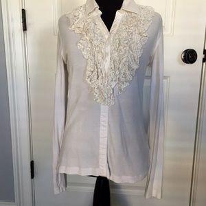 CAbi lace front blouse