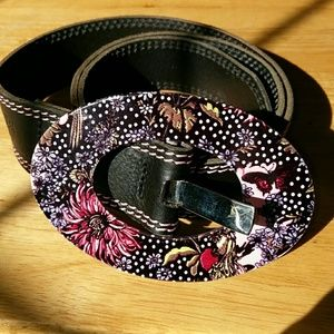 Oilily Accessories - 100% genuine Oilily black leather belt