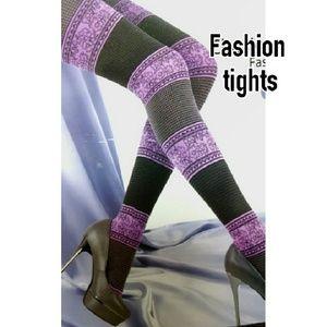 Accessories - ITALIAN Fashion tights GREY/BROWN