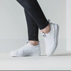 Adidas Shoes - superstar slip on Adidas (runs big)