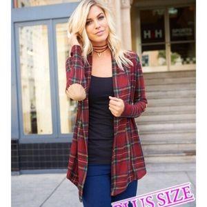 Boutique Sweaters - Plus Size Plaid Cardigan ❗️LAST 2❗️