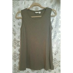 St. Tropez Tops - St. Tropez West Brown Tank