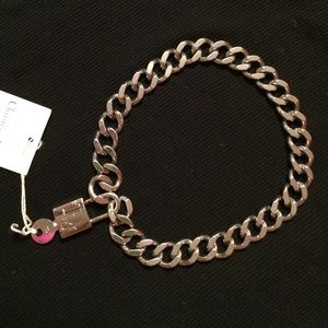 Christian Dior lock and chain necklace