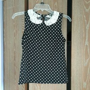 Mod cloth polka dot top