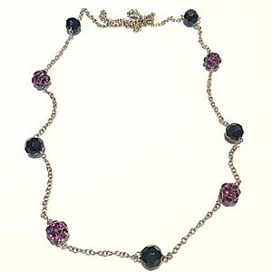 📿Black & Purple Ball Chain Necklace