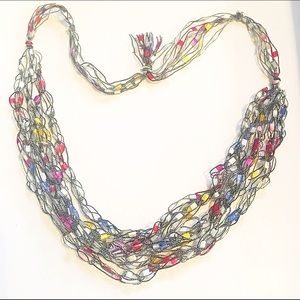 Jewelry - 📿Black & Multicolor Layered Thread Necklace