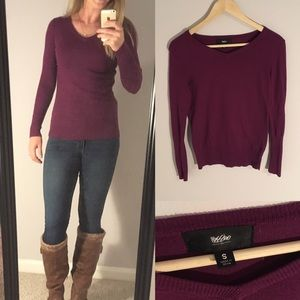 Mossimo Purple Sweater Women's S