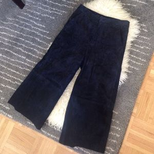 Zara leather culottes