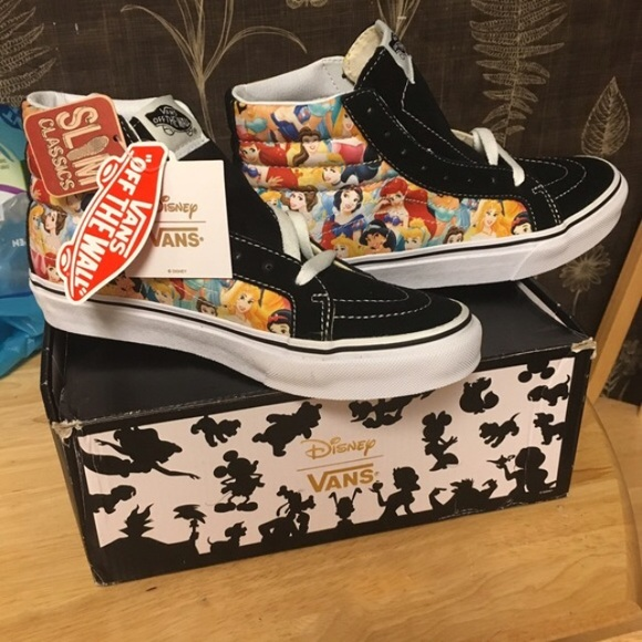 10aebb176835 Disney Princess Vans SK8-Hi Slim Tops Sneakers 6.5