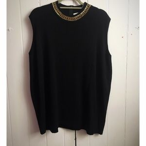 Jones New York Tops - 🎉SALE🎈Jones New York jeweled sleeveless sweater