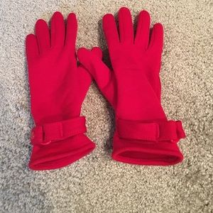 Isotopes Red Gloves with Suede