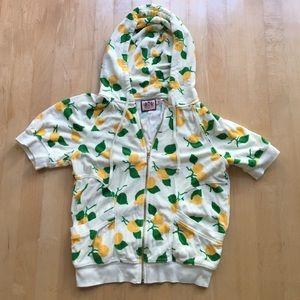 Juicy Couture Tops - NWOT Juicy Terry Short Sleeve Hoodie - Lemon Print