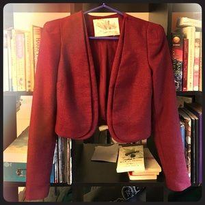 Urban Outfitters Burgundy sparkle bolero/blazer