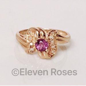 Fine Jewelry Other - 10k Gold Amethyst & Diamond Birthstone Ring