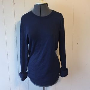 Blue Crew Neck Sweater