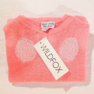 WILDFOX WHITE LABEL KIDS DISTRESSED SWEATER