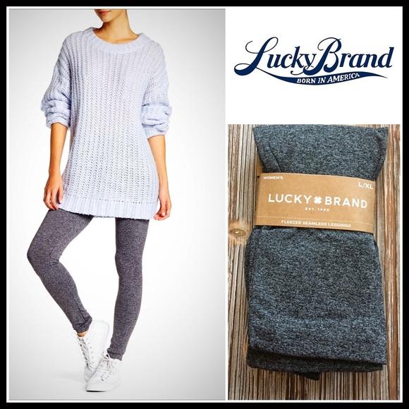 10d50d8446356 Lucky Brand Pants | Fleece Lined Seamless Leggings | Poshmark