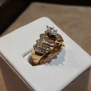14k yellow gold 1ct diamond ring